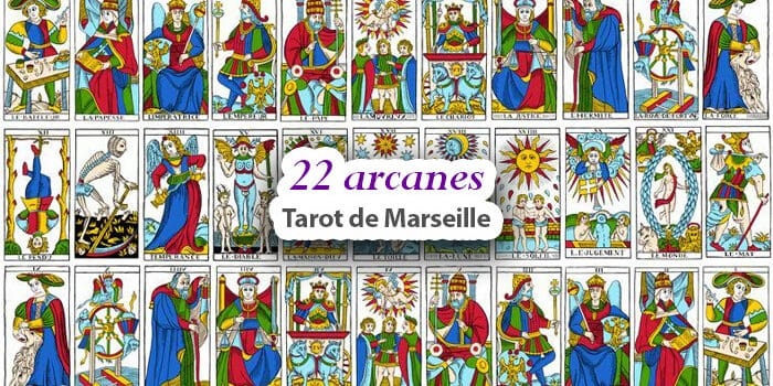 Tarot de Marseille - Les 22 arcanes majeurs du tarot de Marseille