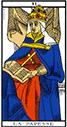 Tarot de marseille - Arcane la Papesse