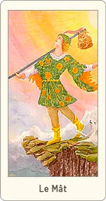Carte de Tarot Le Mât